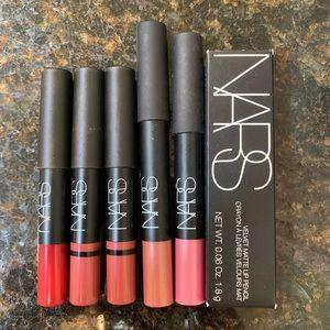 NARS Lip Pencil Lot 6x NIB
